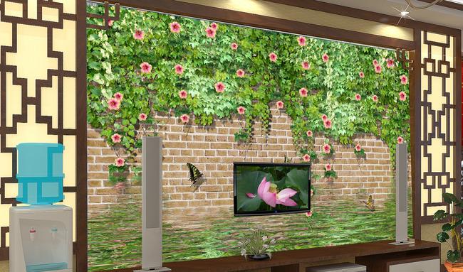 客厅花藤墙壁电视背景墙图片