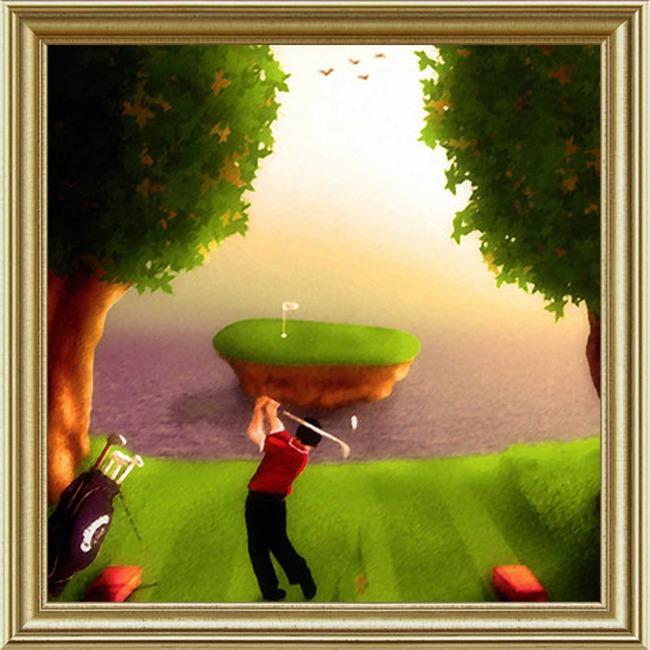 高尔夫主题画图片