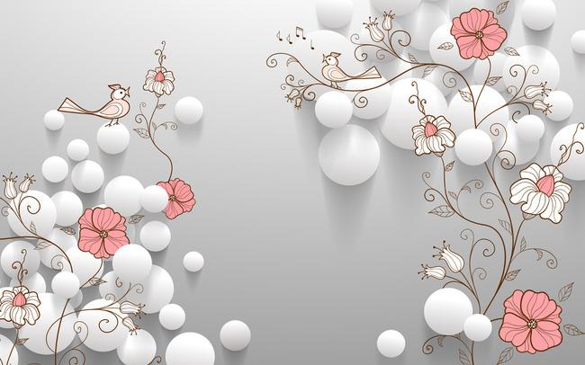 装饰墙 手绘花纹背景墙 立体字立体箭头3d立体画ps立体字体立体油画