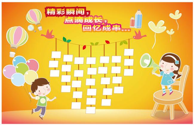 幼儿园形象墙 气球 人物 幼儿园图片