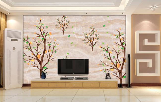 创意背景墙壁画
