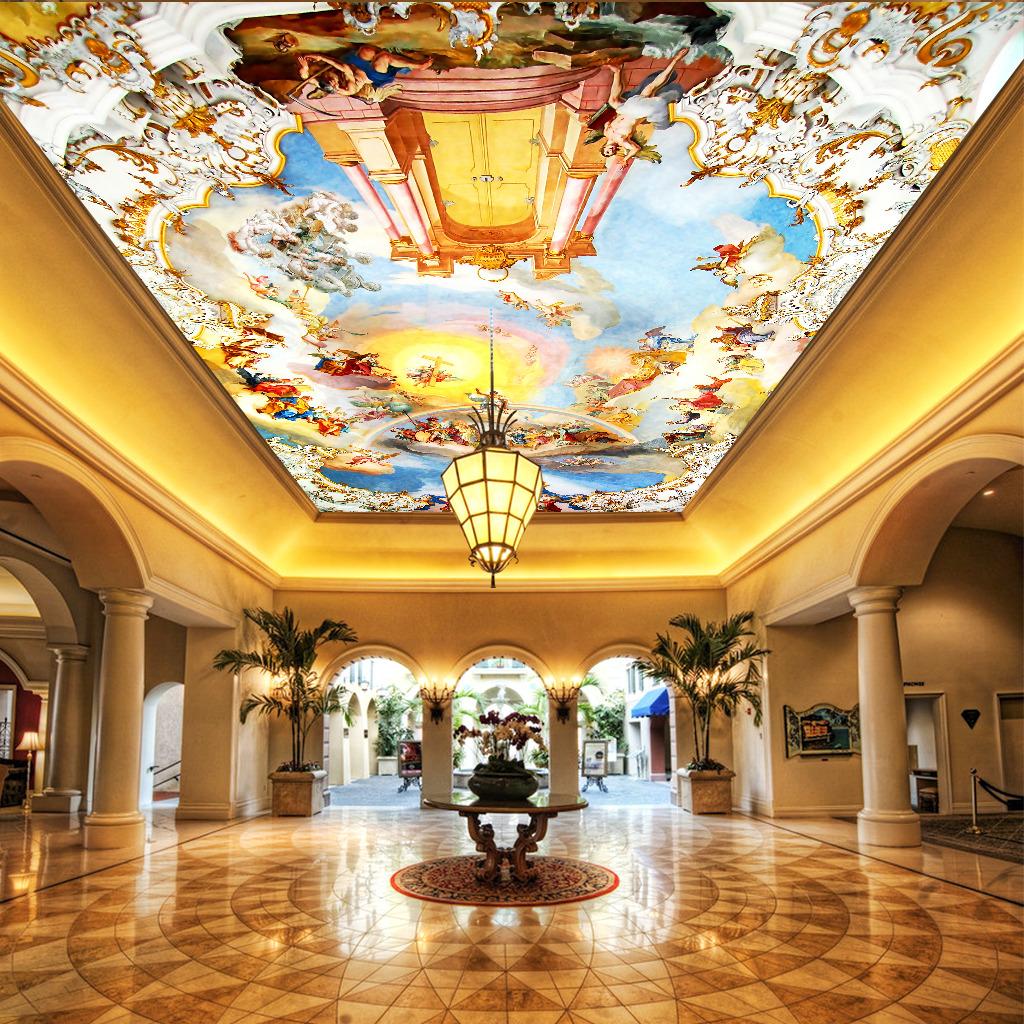 大型壁画吊顶壁画欧式壁画