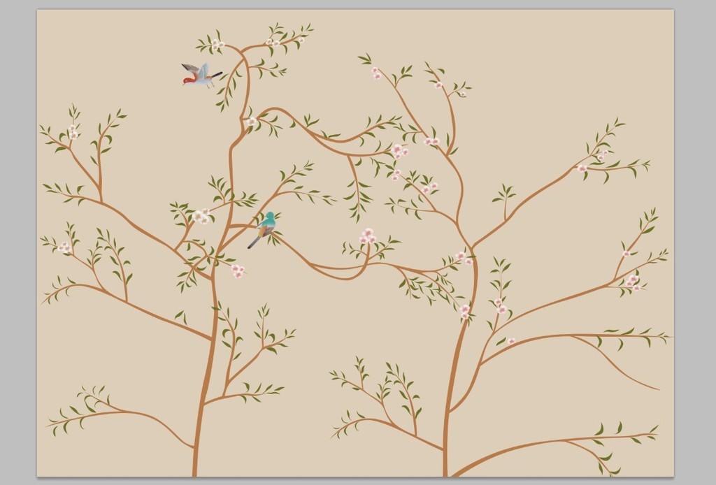 大型壁纸壁画花鸟图模板下载(图片编号:11634708)图片