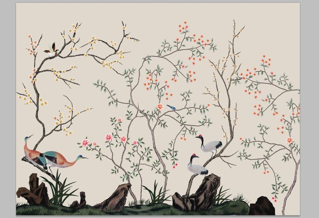 大型壁纸壁画花鸟图模板下载(图片编号:11634745)图片