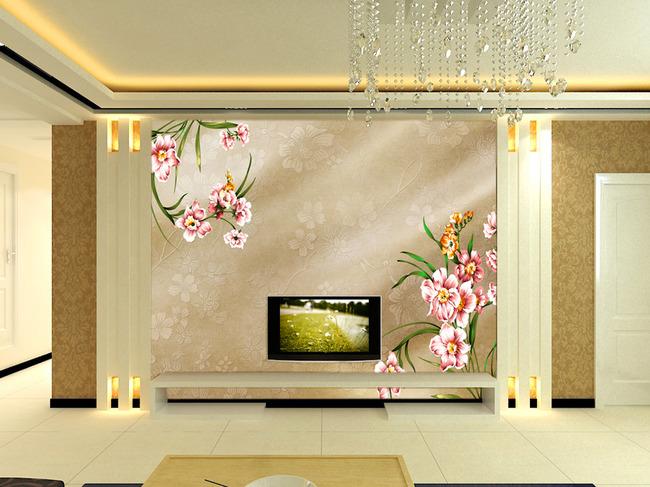 欧式风格电视背景墙壁画