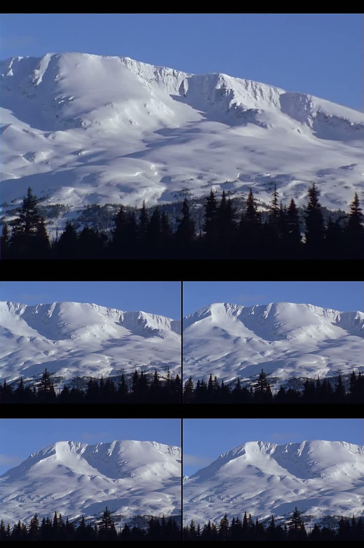 高清森林雪山led背景视频