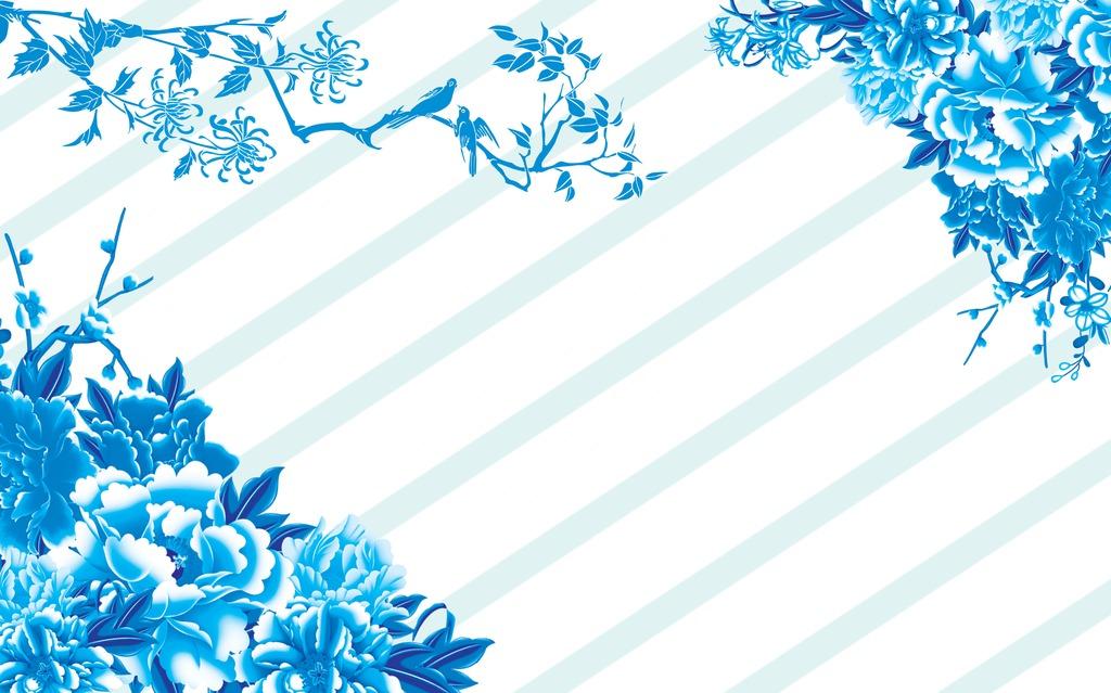 背景墙|装饰画 电视背景墙 手绘电视背景墙 > 时尚中国风蓝色高清背景