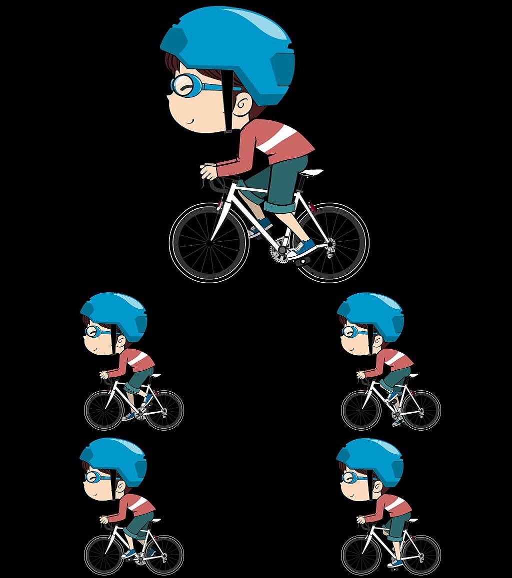 彩绘卡通气球自行车移门装饰画