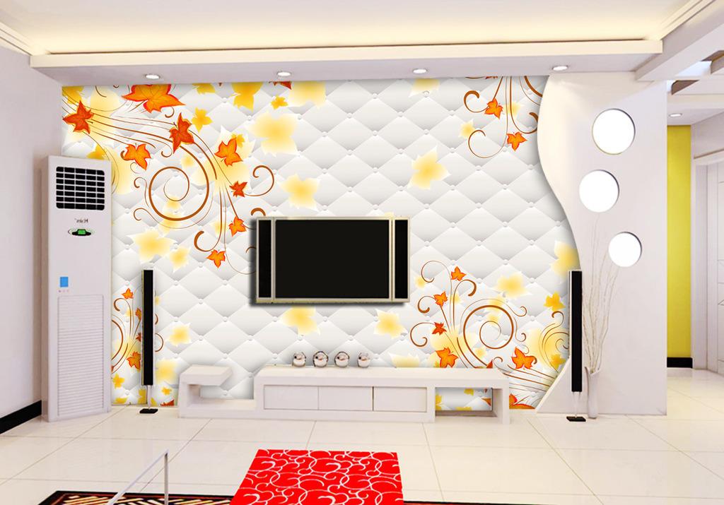 3d立体软包电视背景墙