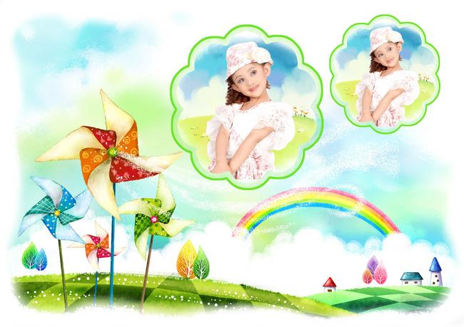 儿童模板可爱儿童相框漂亮模板