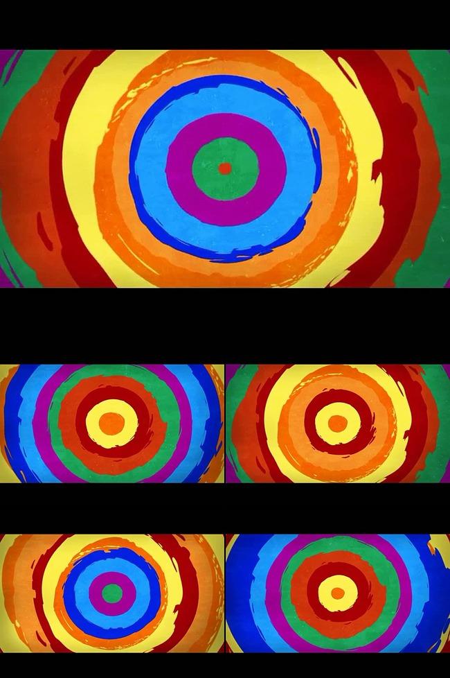 唯美油彩圆环视频模板下载 11652210 动态 特效 背景视频素材 AE模版