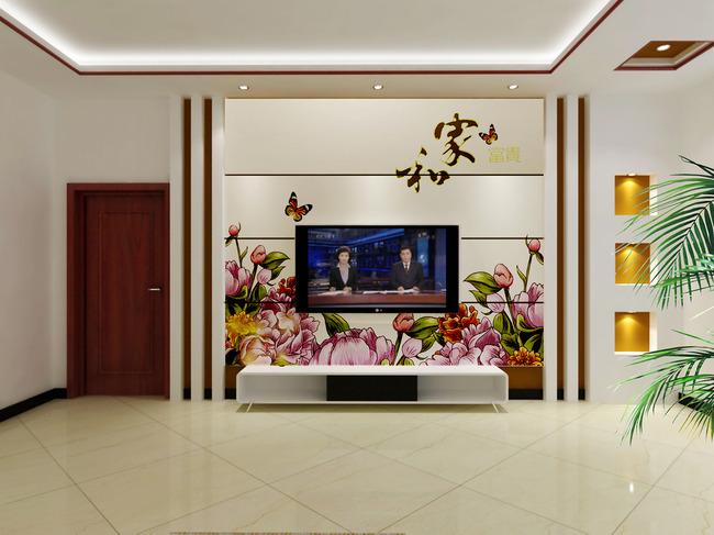 客厅电视背景墙图片模板下载
