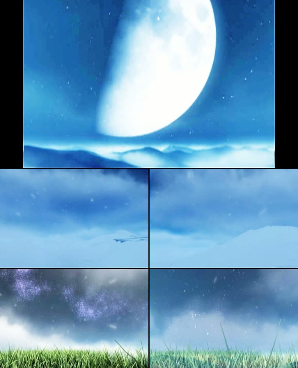 蓝色星空背景图片素材