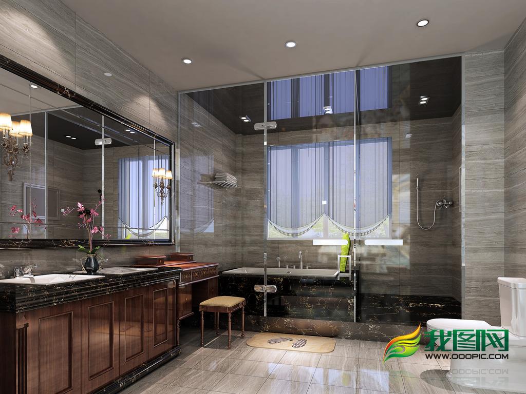 浴室室内设计模板下载