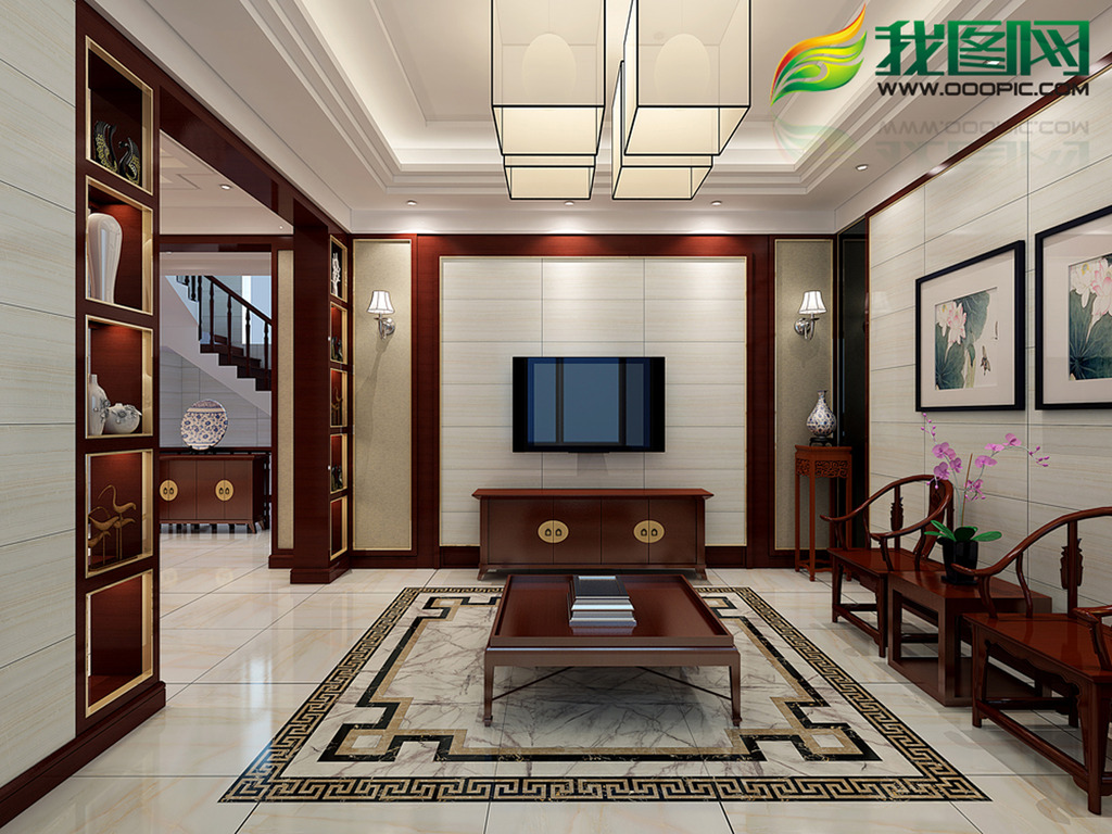 中式室内设计图片下载