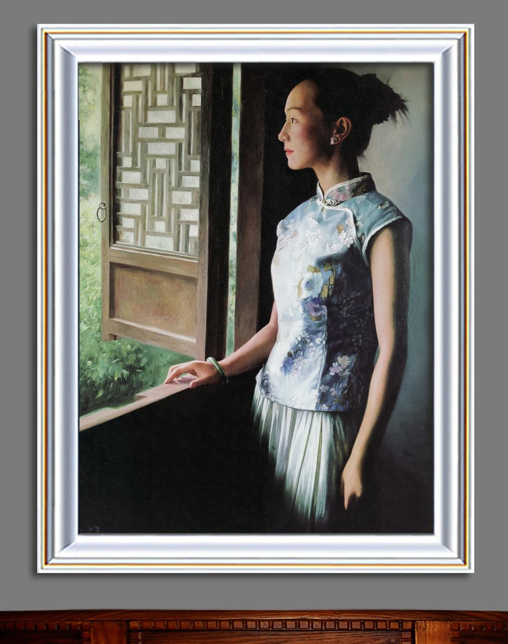 油画 窗外/[版权图片]窗外现代风格油画