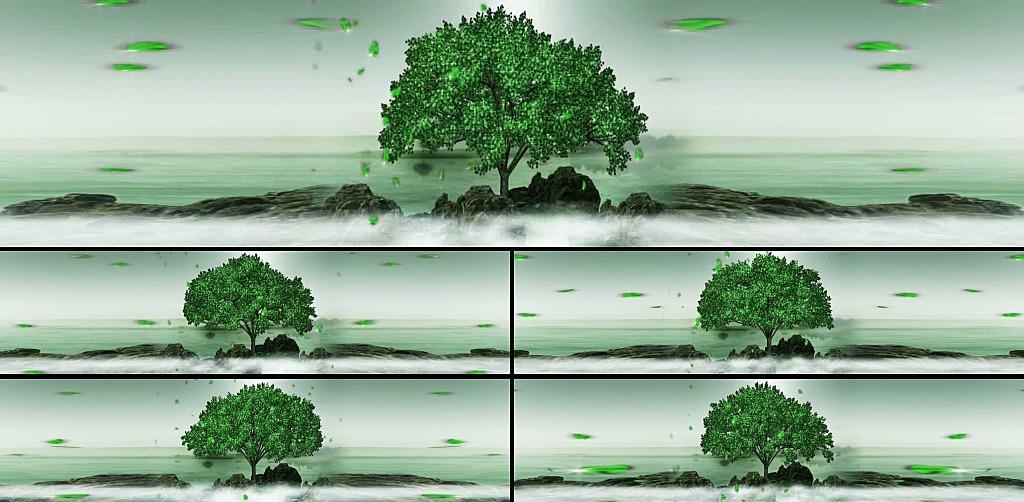 青山绿水背景素材