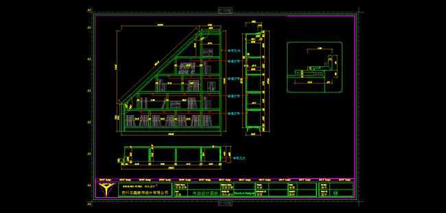 书架图纸设计模板下载 11668913 CAD图纸 背景墙