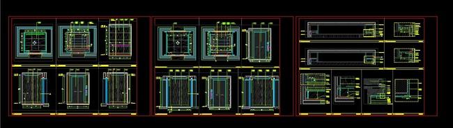 【dwg】电梯轿厢详图;