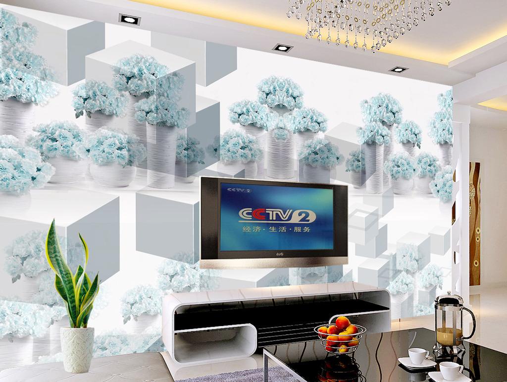 背景墙 装饰/蓝色妖姬大型背景墙移门装饰