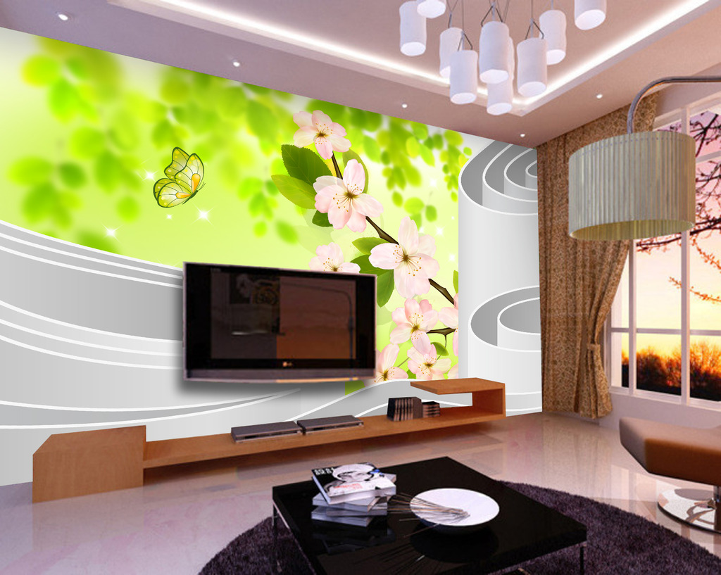 风景 空间 背景墙/3D立体空间风景电视背景墙装饰画