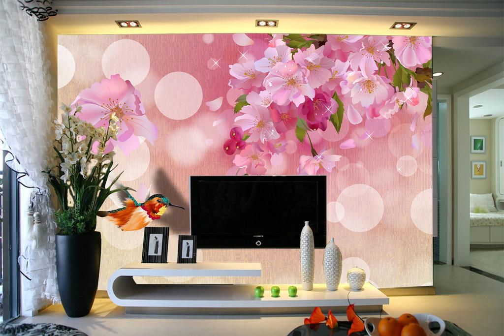 3d壁画飞鱼梅花山水画模板下载(图片编号:11678884)