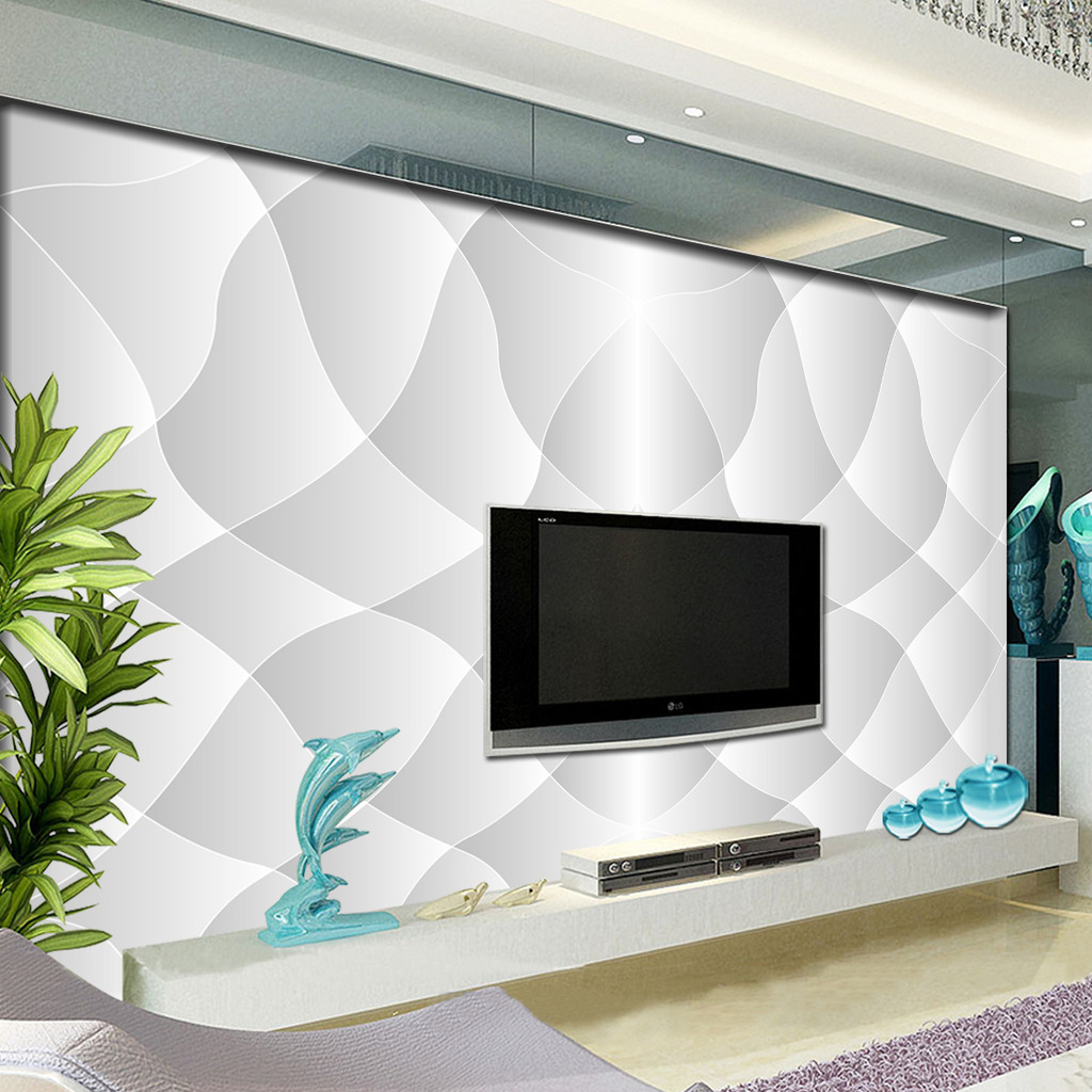 动感线条欧式电视背景墙图片