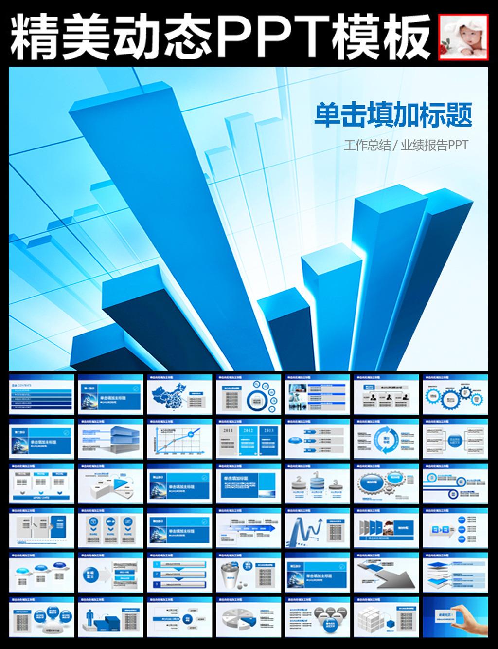 财务分析数据报告计划总结ppt模板模板下载