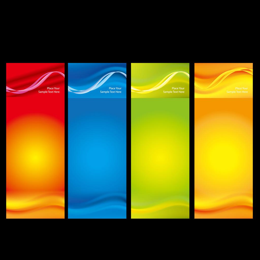 四款商务x展架易拉宝背景模板下载