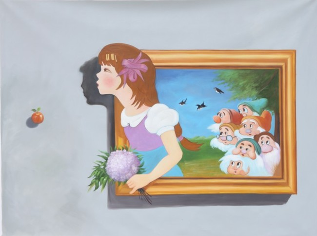 3d手绘油画装饰画油画瞻