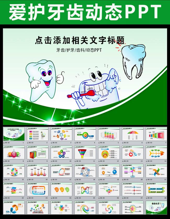 牙齿牙科保健医疗爱牙幻灯片ppt模板下载