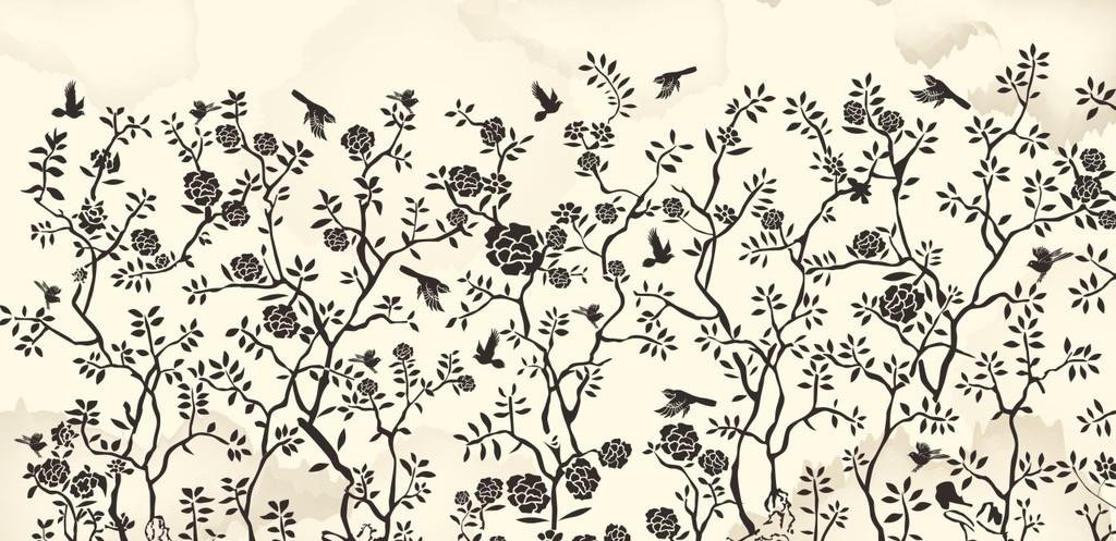 花鸟图矢量壁纸高清壁纸手绘模板下载(图片编号:)图片