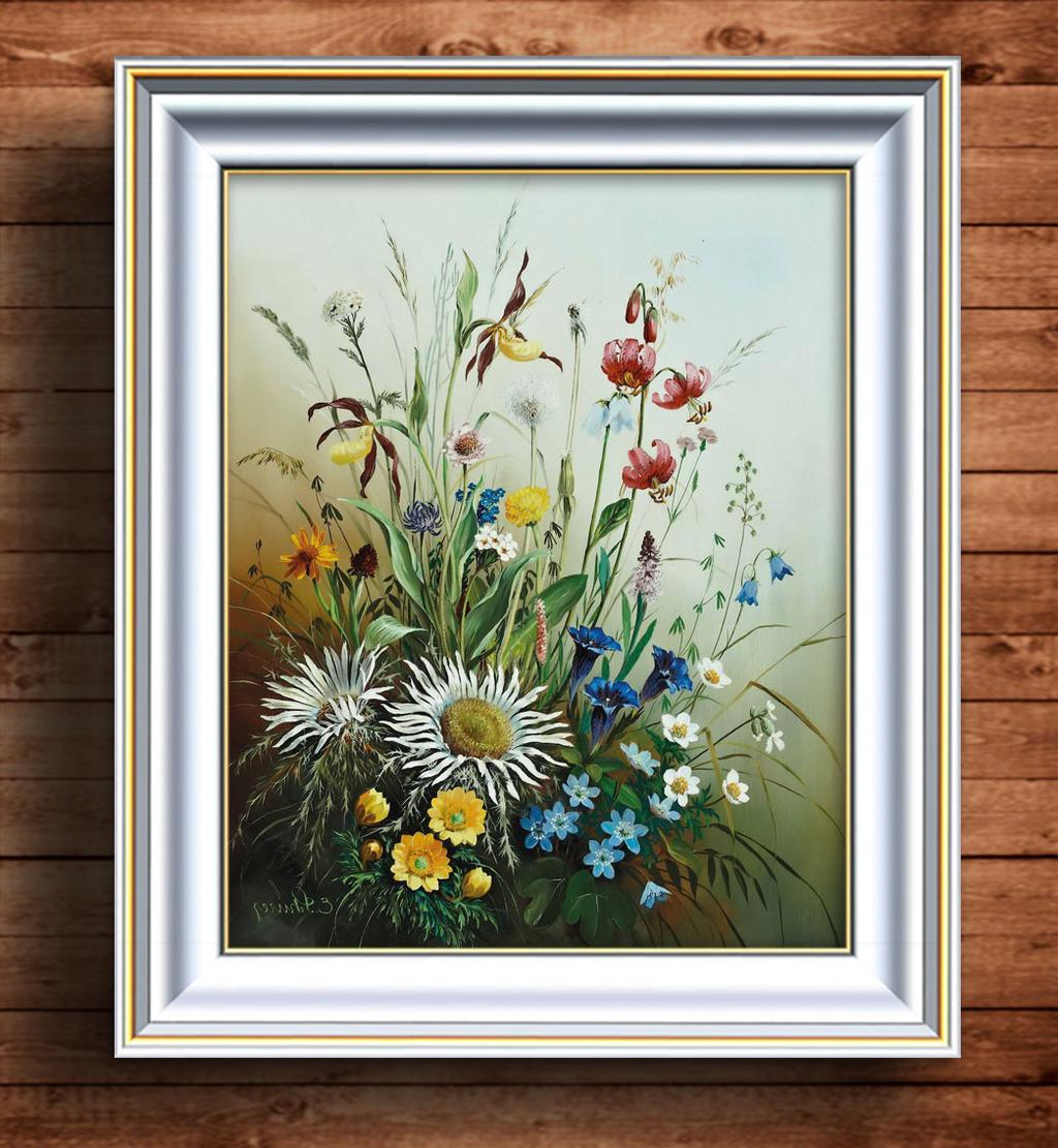 风格/[版权图片]野花写实风格油画