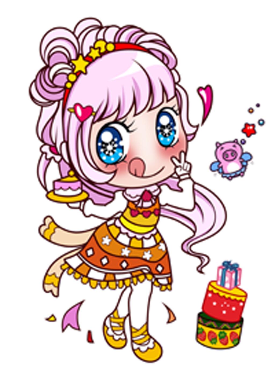卡通形象 手绘 卡通 可爱书签 草莓女孩 便签 卡通手机壳 蝴蝶结 免子
