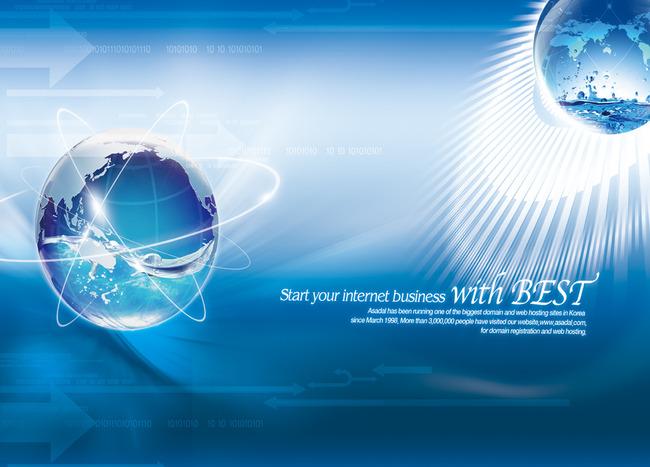 蓝色科技地球海报展板背景模板下载(图片编号:)_海报