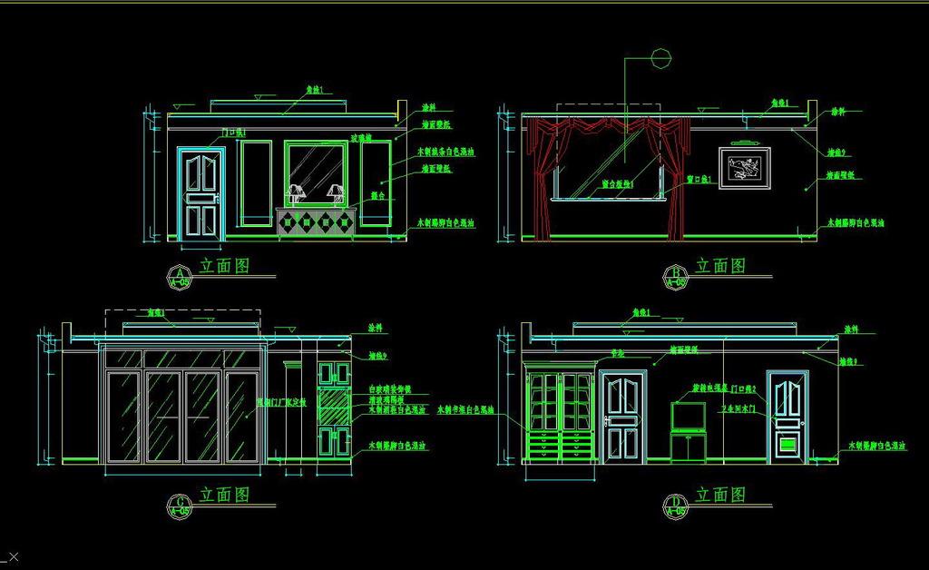 CAD素材 CAD平面图 cad剖面图 商业CAD图纸-总统套房全套的CAD