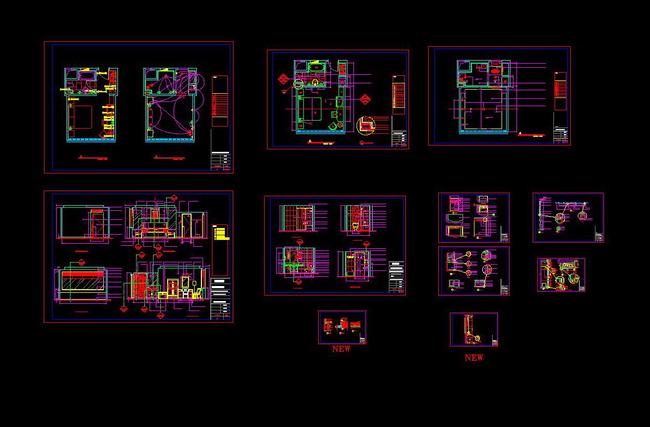 室内设计 cad图库 酒店宾馆cad施工图 > 酒店客房全套的cad设计图纸
