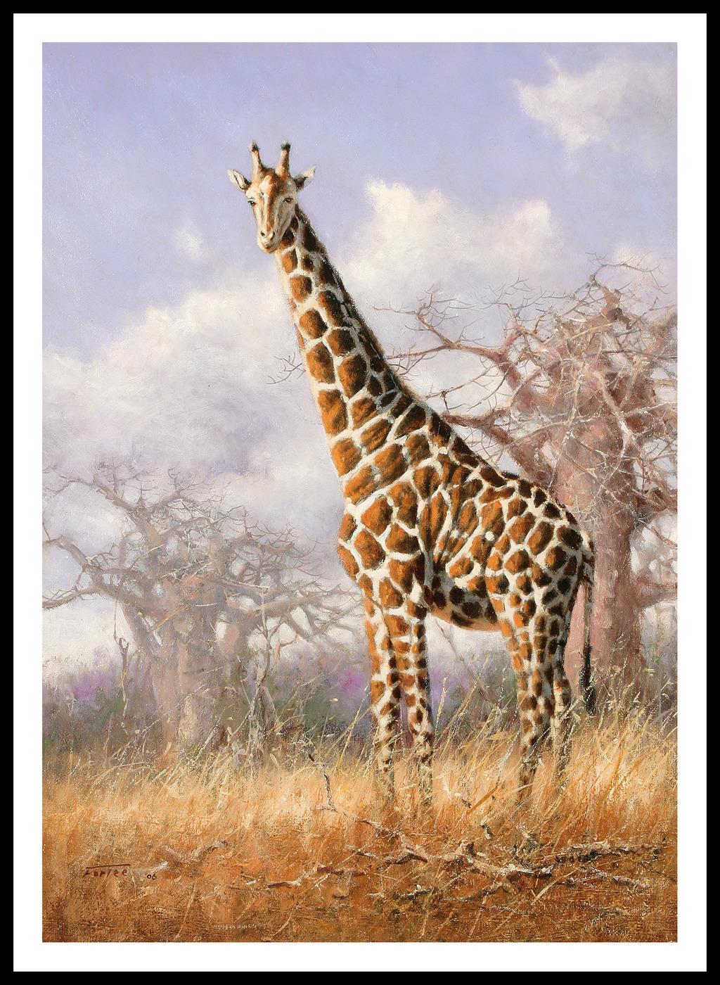 长颈鹿装饰画