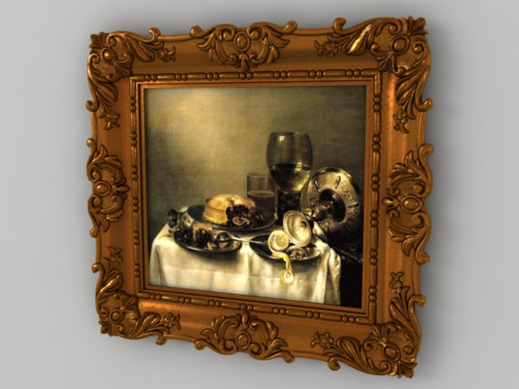 欧式相框3d模型图片下载