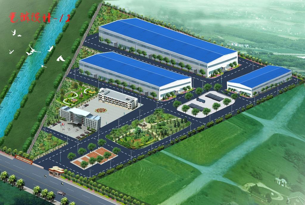 厂房和建筑设计鸟瞰图