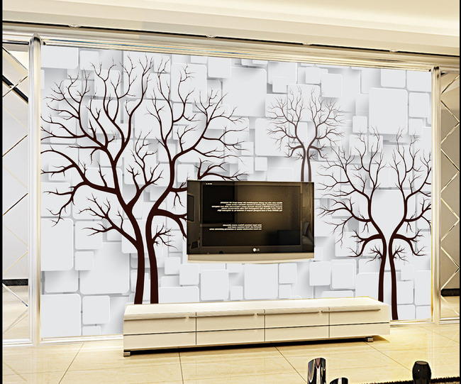 背景墙|装饰画 电视背景墙 手绘电视背景墙 > 梦幻树林电视背景墙装饰