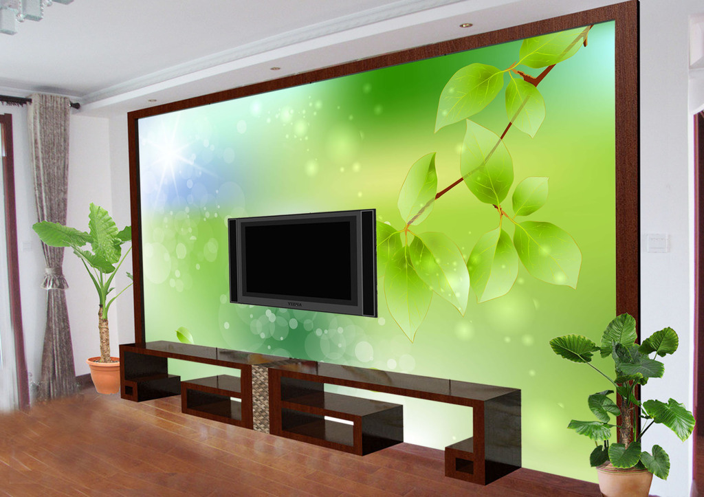 春意客厅电视背景墙