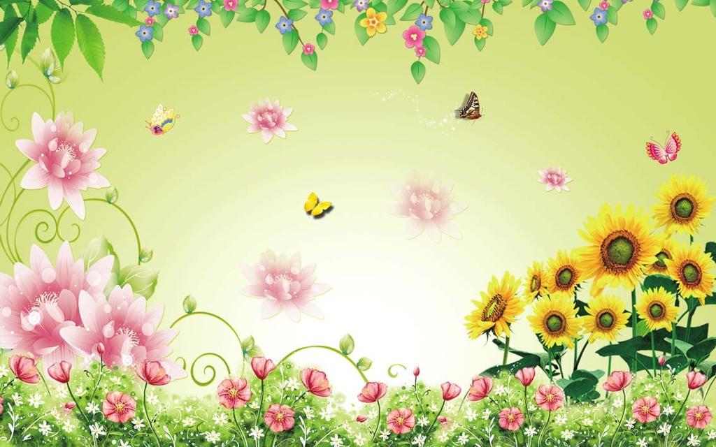 树叶树藤风景画自然风景客厅电视背景墙