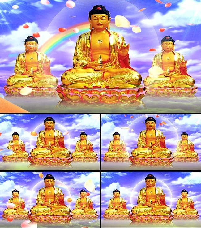 如来佛祖视频2分钟时间无缝循环模板下载(图片