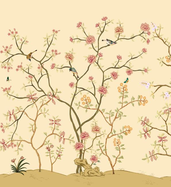 手绘花鸟壁纸模板下载(图片编号:11743671)