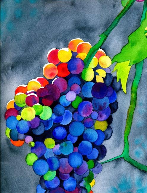高清水彩手绘花朵花卉装饰画