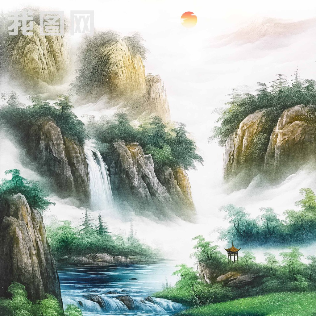 山水风景画装饰画