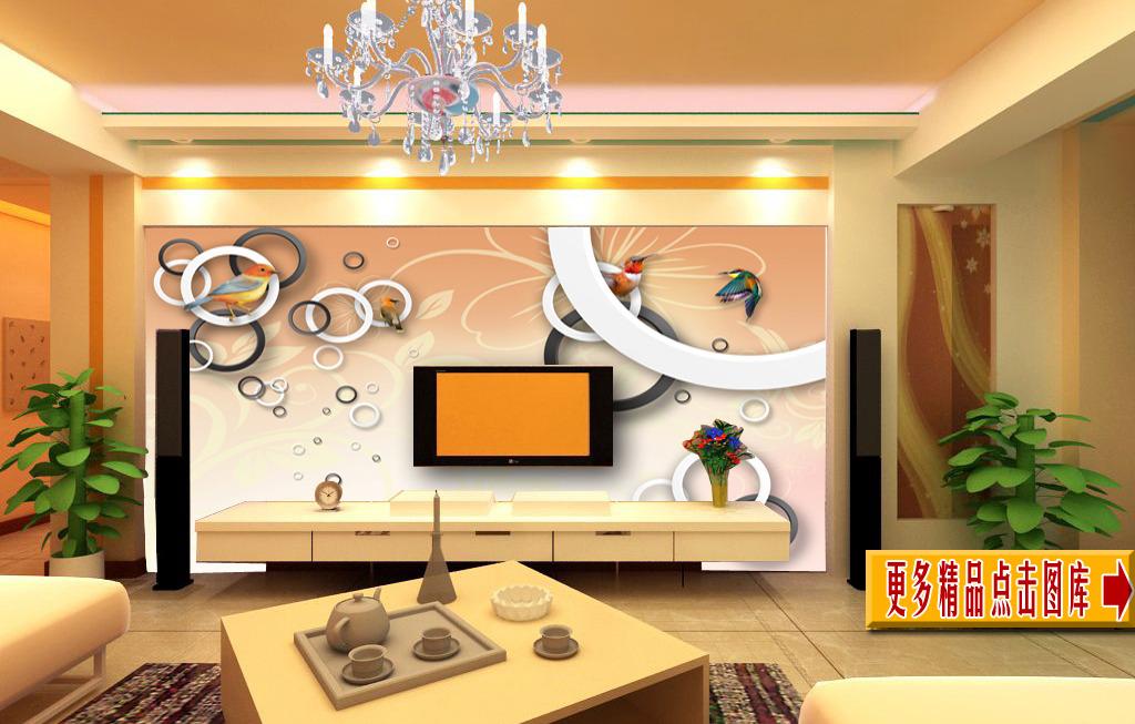 客厅电视背景墙模板下载(图片编号:11746286)