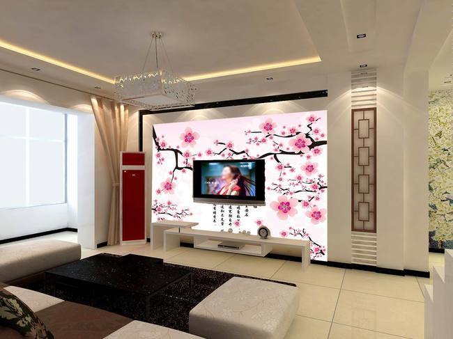客厅电视墙 客厅壁画 大厅壁画