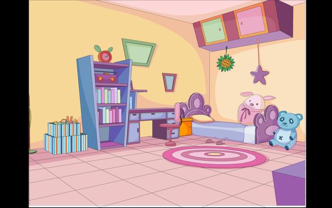 关键词:flash可爱儿童房间动画场景源文件模板下载 flash可爱儿童房间